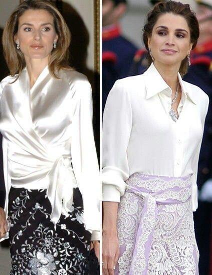 Queen Letizia .... Queen Rania