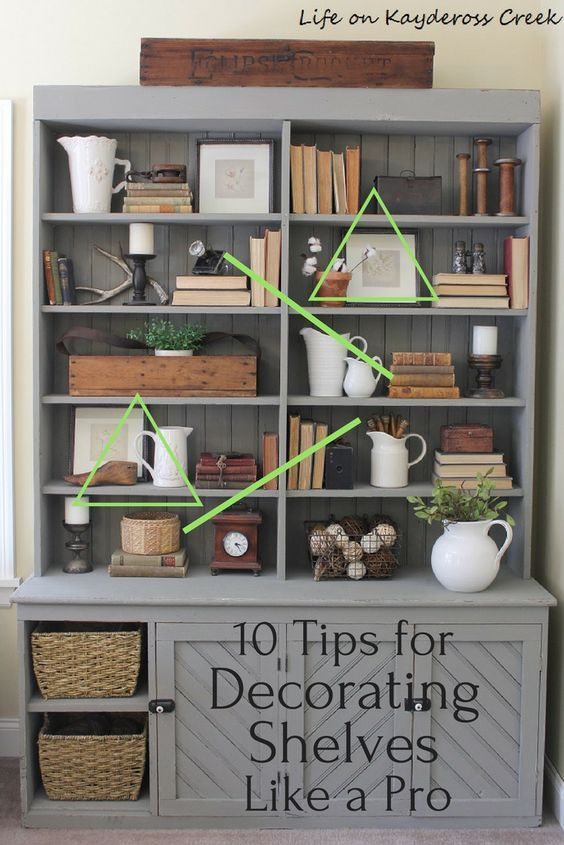 10 Tips For Decorating Shelves Like A Pro With Some Planning And Practice You Ll Be Able To Decorate Decorating Bookshelves Decorating Shelves Bookcase Decor