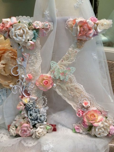 Shabby Chic(¯`★´¯)° ...Letter  Shabby Chic craft  Pinterest  Shabby chic, Shabby and Chic