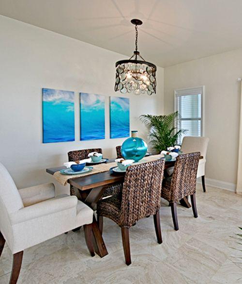 Focal Point Ocean Art Paintings Photos Decor Ideas Seagrass Furniture Coastal Dining Room Beach Wall Decor