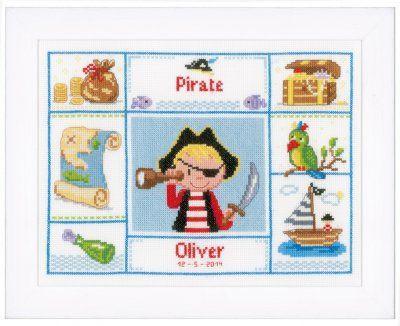 One Eyed Pirate - Cross Stitch Kit