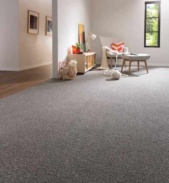 Here we have a medium plush carpet that's comfortable for areas where children might play or even in bedrooms. It's also great for living rooms and other spaces you might want to walk around barefoot.