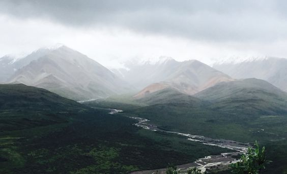Polychrome Pass in Denali National Park