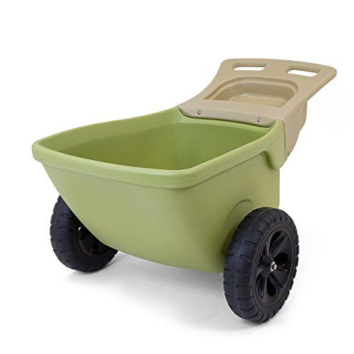 Easy Haul Plastic Wheelbarrow W Garden Tool Storage Lightweight And Highly Maneuverable With 13 5 Roto Plastic Wheels That Won T Go Garden Tool Storage Wheelbarrow Plastic Wheelbarrow