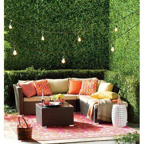 Decoracion De Jardines De Casas Quintas In 2020 Wicker Patio Furniture Sets Wicker Patio Furniture Patio Furniture Sets