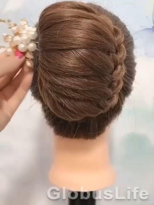 Hair Accessories In 2020 Bun Hairstyles For Long Hair Hair Styles Hair Style Vedio