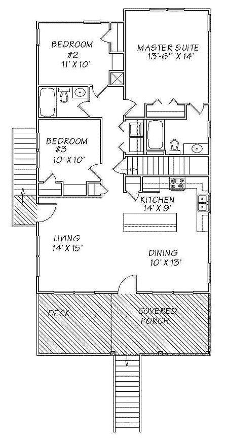 Plan 13095fl Narrow Lot Beach Cottage Florida Houses