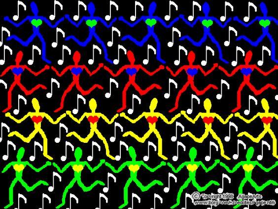 Stereogram Wallpaper | Dance