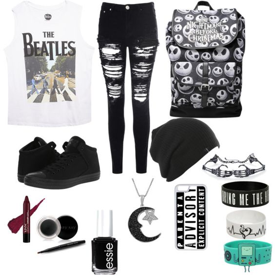 Untitled #36 by ronnieradkemine on Polyvore featuring polyvore fashion style Wet Seal Glamorous Converse Jewel Exclusive CellPowerCases Mary Kay Essie