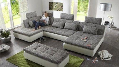 Megapol Free Polstergarnitur Weiß Granite inkl Kissen und - designer couch modelle komfort