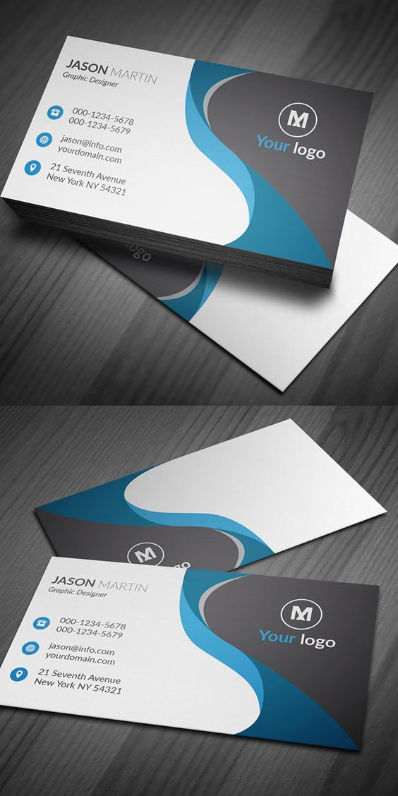 Corporate Business Card AI & EPS Design | presentacion | Pinterest ...