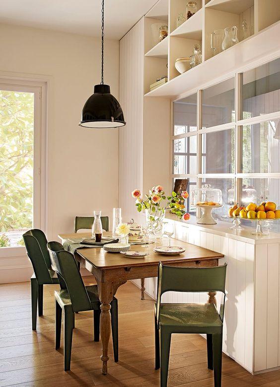 8 ideas para comer en la cocina cocinas y - Cocina comedor ideas ...