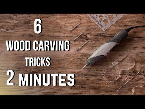 6 Wood Carving Tricks In 2 Minutes Youtube Dremel Wood Carving Dremel Carving Wood Carving For Beginners