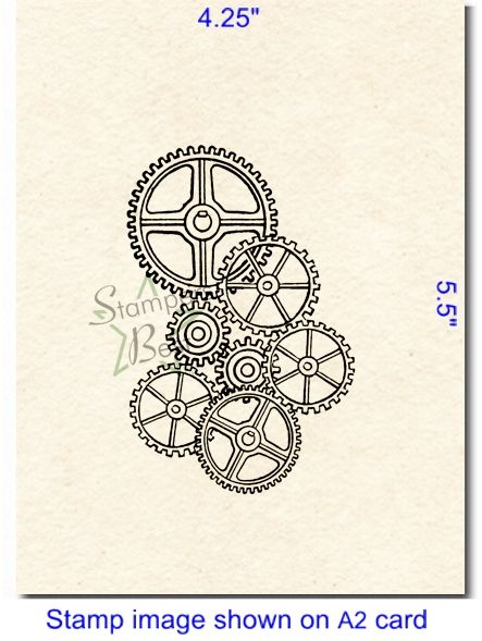 Gears background stamp from Stampers Best