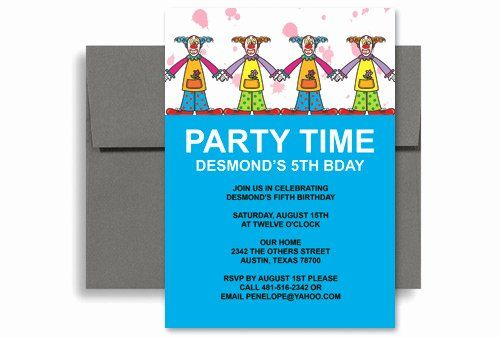 Ms Office Invitation Template Elegant Circus Clown Party Microsoft Word Birthday Party Invite Template Invitation Template Birthday Invitation Templates