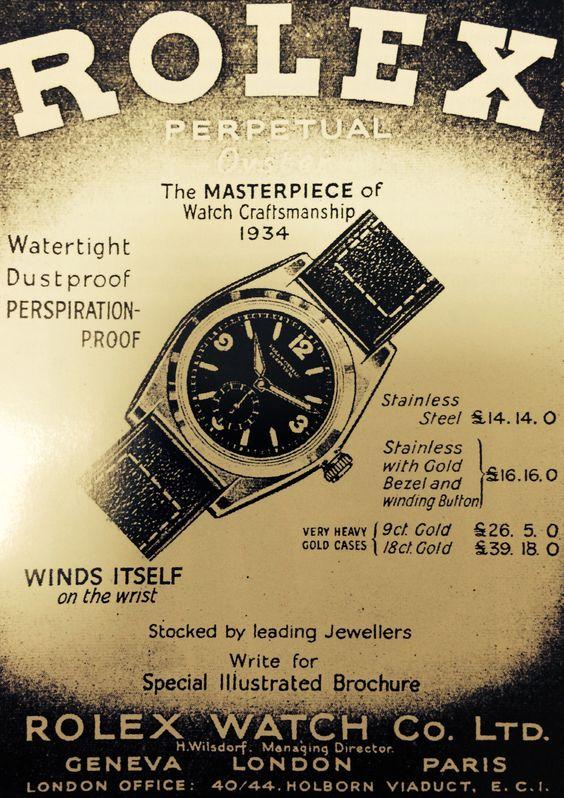1934 Rolex Advertisement