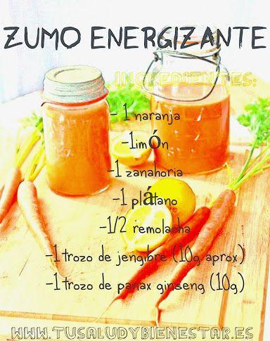 Para comenzar el día con energía este zumo energizante! En mi blog puedes encontrar más recetas de jugos para adelgazar, jugos verdes, zumos depurativos, jugos detox, ...etc.