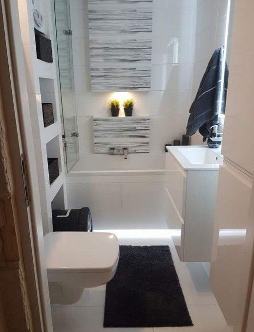 Mała łazienka Z Wanną Inspiracje Mieszkanie łazienka