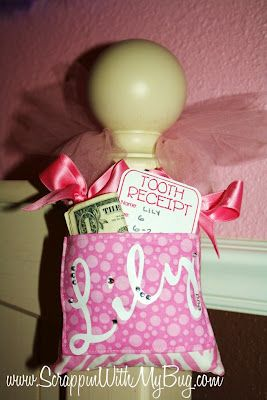 Tooth Fairy pillow for the bedpost...