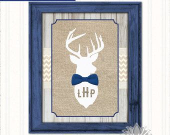 Rustic Nursery Wall Art Our Little Man by SwankyPrintables on Etsy