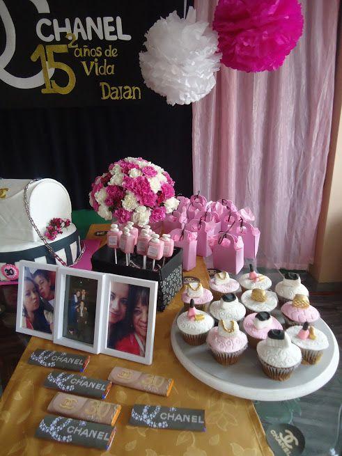 Decoración Cumpleaños Mujer Chanel Decoraciones Tematicas Decoracion Cumpleaños Mujer Decoracion De Cumpleaños Fiesta Chanel