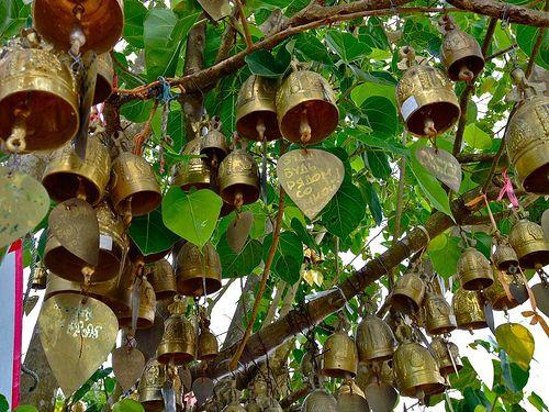 Bells in a tree - Buddhist Symbolism -Thailand