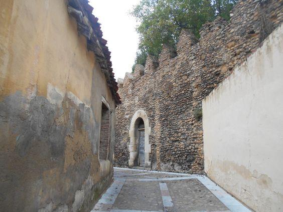 Puerta realizada en cerca medieval.