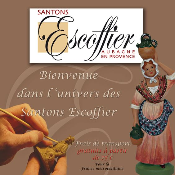 Les vrais santons de provence pour la crèche de Noël ! www.santons-escoffier.com