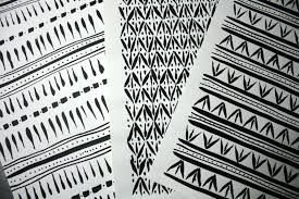 ink drawings inspired by weave pattern
