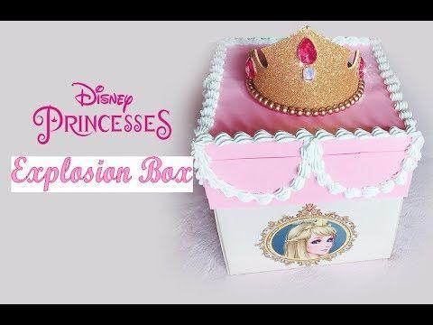 Birthday Explosion Box In Disney Princesses Theme اكسبلودينق بوكس ثيم اميرات ديزني Youtube Birthday Explosion Box Explosion Box Disney Princess Theme