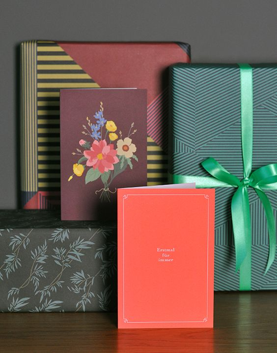 New greeting cards and wrapping paper from Haferkorn & Sauerbrey