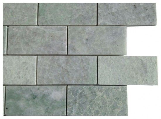 2x4 Ming Green Marble Brick Polished Mosaic Tiles On 12x12 Mesh Sheet Green Marble Mosaic Tiles Wall And Floor Tiles