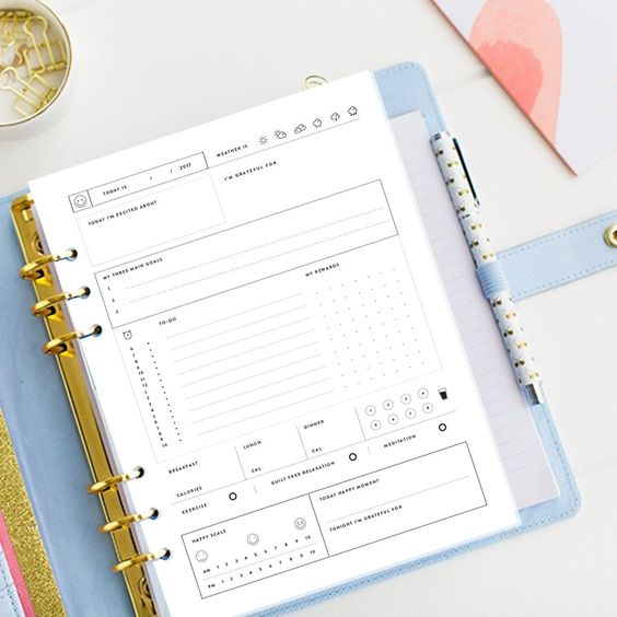 Blissfully Happy Planner & Journal - Printable Planner - Undated designed to help you plan and live a truly blissful happy and fulfilled life.