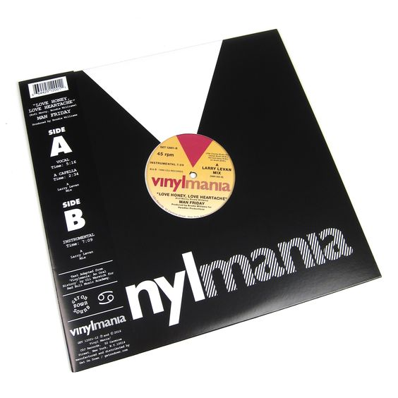"Man Friday: Love Honey, Love Heartache Vinyl 12"""