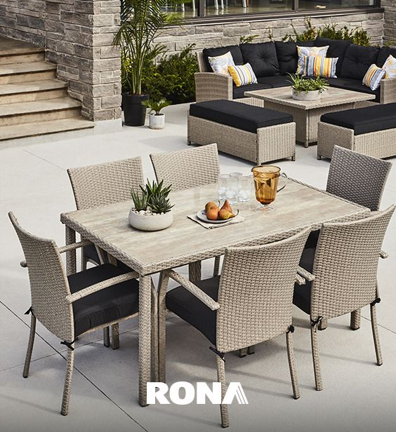 Big Yard Get Matching Dining And Conversation Sets For A Coherent