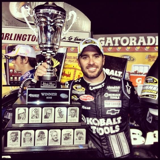 Jimmie Johnson wins at Darlington and gives Rick Hendrick his 200th win!!! May 12, 2012