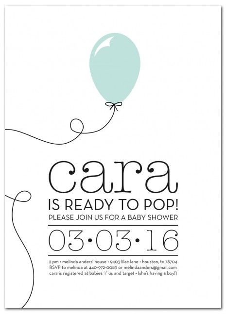 Ready To Pop Baby Shower Invitation Baby Shower Ideas Pinterest