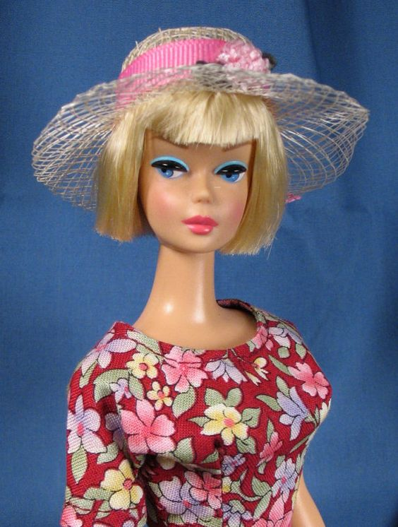 Barbie Clothes  Red Print Sheath with Hat Purse by DebrasCloset, $19.00