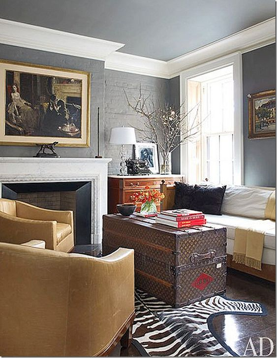 Love The Same Color On Walls And Ceiling With White Crown