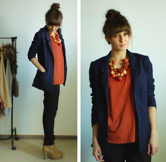 business casual. Not really digging the huge shoulders on this, but it a cute blazer would totally work!