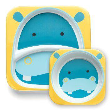 Skip Hop Zoo Kinderteller & Breischale, Hippo: Amazon.de: Baby