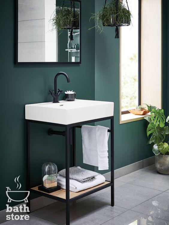 Noir 600mm Basin And Frame Unit Bathstore Bathroom Design Bathroom Design Luxury Bathroom Vanity Units