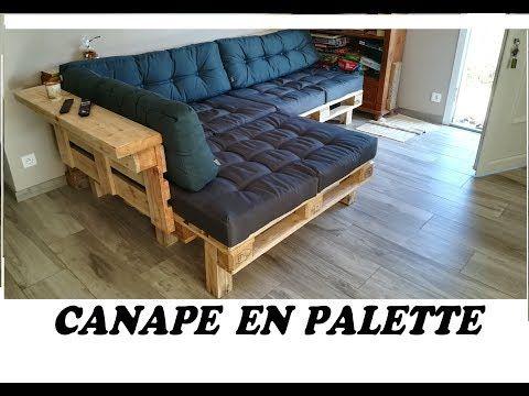 Faire Son Canape D Angle En Palette Economie Youtube En 2020 Canape Angle Canape Palette Canape