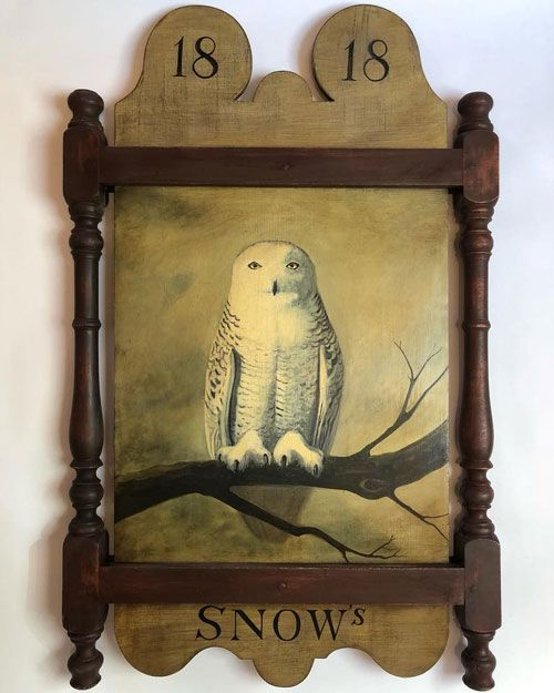 My Owl Barn Tavern Signs Handcrafted Using 200 Years Old Boards In 2020 Handcrafted Owls Antique Signs Tavern Decor