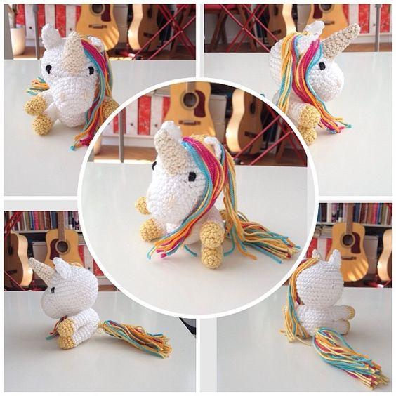 Eine kostenlose Häkelanleitung für ein Einhorn!  It's a unicorn - and the pattern is free for private use!