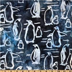Artisan Batik Wild Life Sanctuary Batik Penguins Midnight