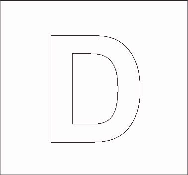 Free Alphabet Letter Print Out   capital d stencil   Projects to ...