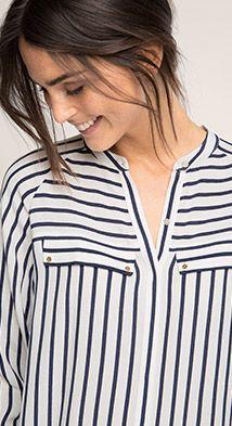 Esprit / Fließende Bluse mit Streifen