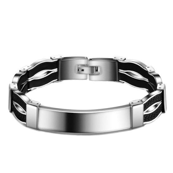 Fashion Titanium Steel Men Bracelets&Bangles Vintage Silver Color Jewelry Punk Bracelet Men Jewelry for Christmas Gift