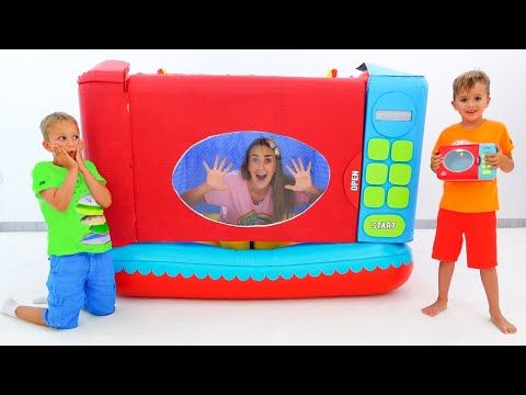 Vlad And Niki Pretend Play With Toy Microwave Youtube Pretend Play Funny Toys Toys